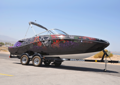 Abstract Rose Boat Wrap