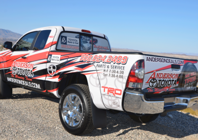 Anderson Toyota Truck Wrap