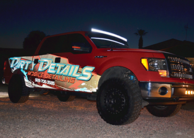 Dirty Details Red Truck Wrap