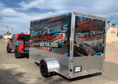 Dirty Details Truck and Trailer Wrap