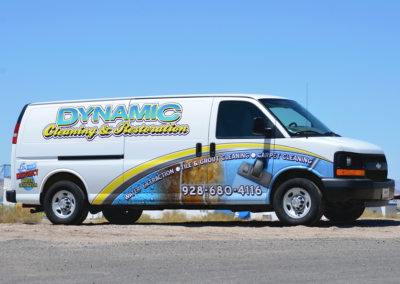 Dynamic Cleaning and Restoration Van Wrap