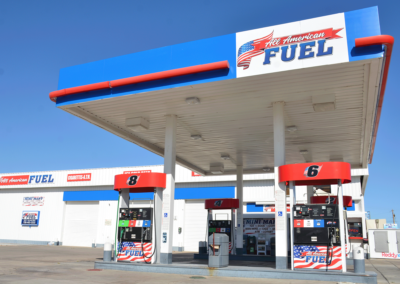 Gas Station Storefront Wrap