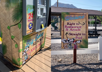 Sign and Gas Pump Wrap